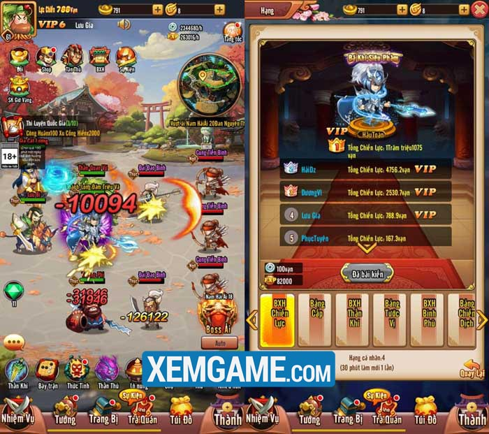 Chiu Chiu Tam Quốc | XEMGAME.COM