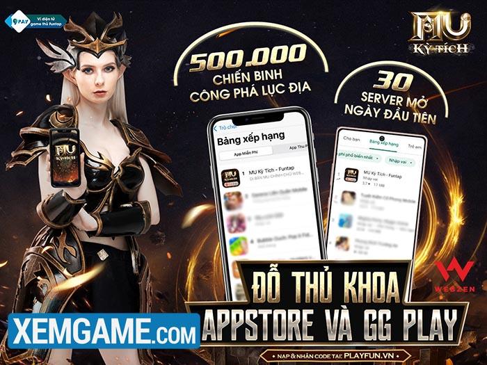 """Ra mắt với thành tích ấn tượng, MU Kỳ Tích Funtap trở thành """"hiện tượng"""" của làng game Việt"""