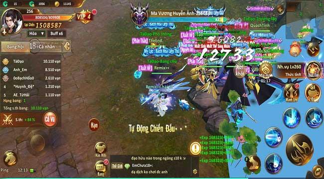 Tam Sinh Kiếp Mobile không thiếu các chiến trường liên server cho người chơi tung hoành