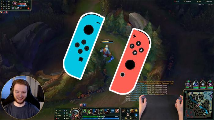 LMHT: Chơi game trên tay cầm Nintendo, game thủ khiến cộng đồng phải trố mắt mà nhìn
