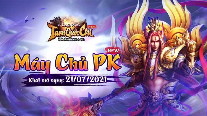 Tặng 99 giftcode Tam Quốc Chí Online nhân dịp  khai mở máy chủ PK