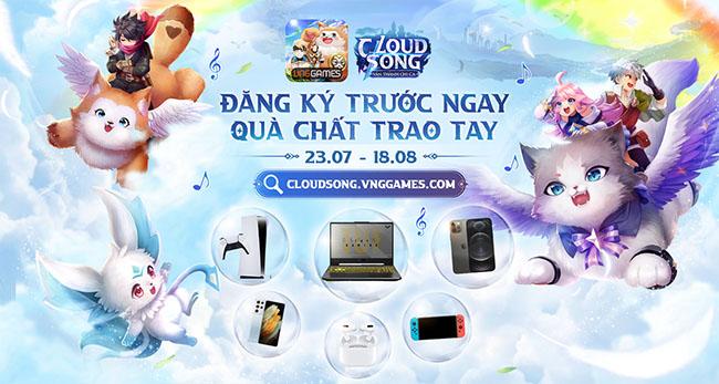 Cloud Song VNG mở sự kiện đăng ký sớm với quà khủng đến 1 tỷ đồng