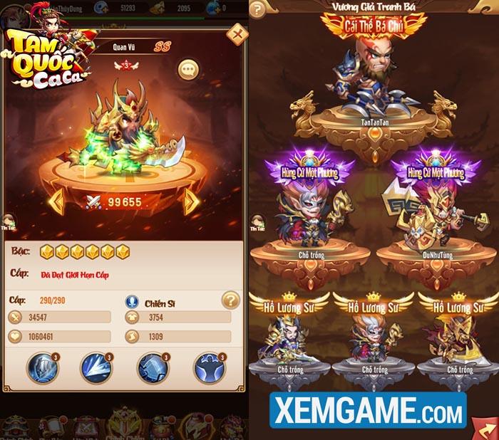 Tặng 999 giftcode Tam Quốc Ca Ca nhân dịp ra mắt