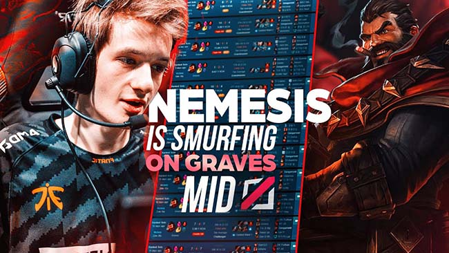 LMHT: Đột phá meta với bài dị Graves Đường Giữa của Nemesis