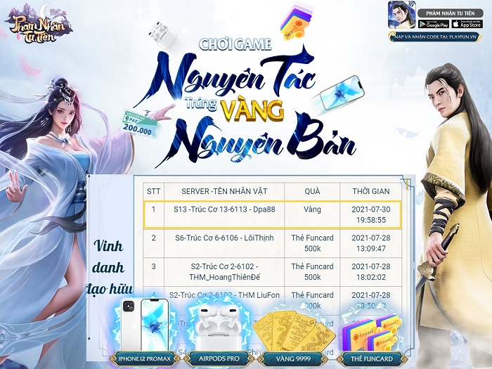 game Phàm Nhân Tu Tiên 3D Funtap