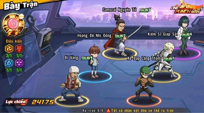 Những chủ lực người chơi nên ưu tiên sử dụng trong One Punch Man: The Strongest VNG