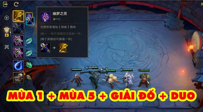 Đại Chiến Xẻng Vàng Tencent xịn hơn hẳn ĐTCL Mobile – vừa có mùa 1 lại có cả full mùa 5??