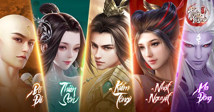 Ngũ Đại Môn Phái trong Thần Kiếm Mobile - Bạn chọn trở thành ai? (Phần 1: Bồ Đề và Ma Đồng)
