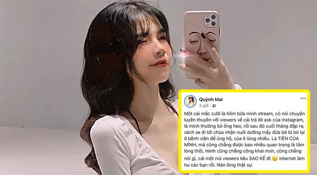 """Lỡ miệng về vấn đề """"sao kê"""" trên mạng, Mai Dora phải ẩn ngay status mạng xã hội"""