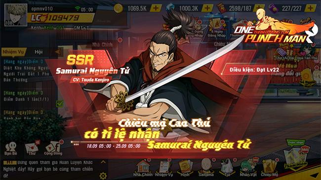 One Punch Man: The Strongest ra mắt chuỗi sự kiện Samurai nguyên tử