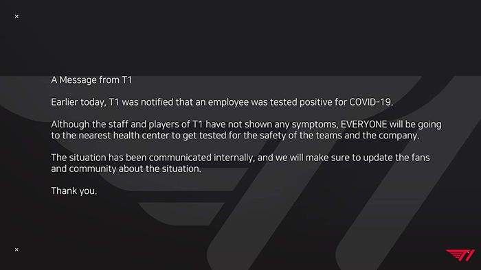 LMHT: T1 có nhân viên dương tính với COVID, liệu có ảnh hưởng tấm vé đến CKTG?