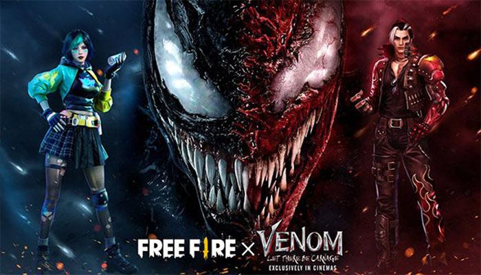 Free Fire hợp tác cùng phim Venom: Let There Be Carnage
