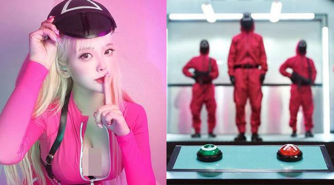 """Nữ streamer cosplay Squid Game siêu gợi cảm khiến """"người chơi"""" phải chảy máu mũi"""