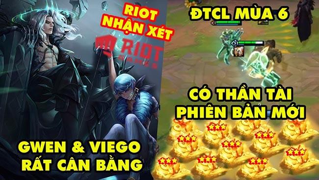 Update LMHT: Riot tuyên bố Viego và Gwen là tướng cân bằng, ĐTCL mùa 6 sẽ có Thần Tài phiên bản mới