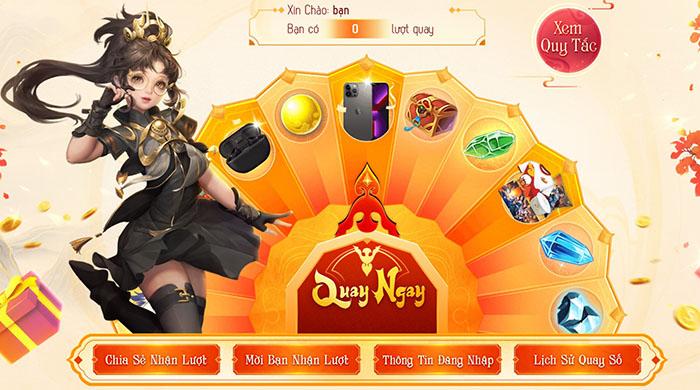 Võ Lâm Truyền Kỳ Mobile mở Vòng Quay May Mắn, mừng game chuẩn bị đón tuổi mới