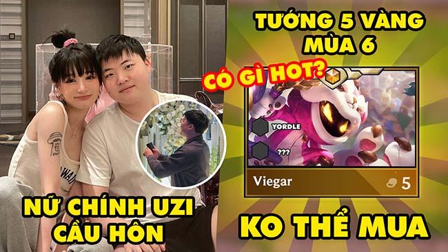 Update LMHT: Hé lộ nữ chính Uzi cầu hôn, ĐTCL mùa 6 xuất hiện tướng 5 vàng không thể mua