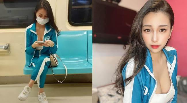 Hot girl mặc trang phục Squid Game đi tàu điện cũng khiến hàng loạt fan xao xuyến